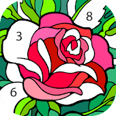 Color by Number – New Coloring Book Icon