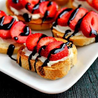 Strawberry and Brie Crostini.