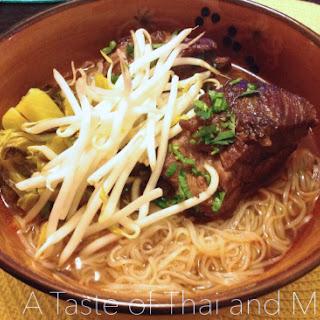 Asian Braised Short Ribs Noodle Soup.