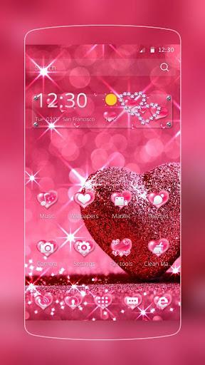 ピンクの愛のダイヤモンドハート