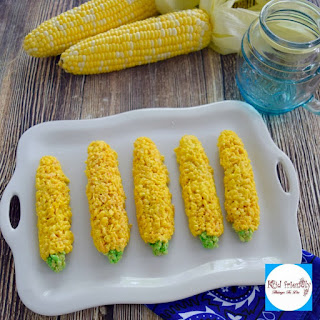 Corn on the Cob Rice Krispies Treats Fun Food for Summer!.