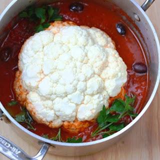Whole Cauliflower In Marinara Sauce And Olives
