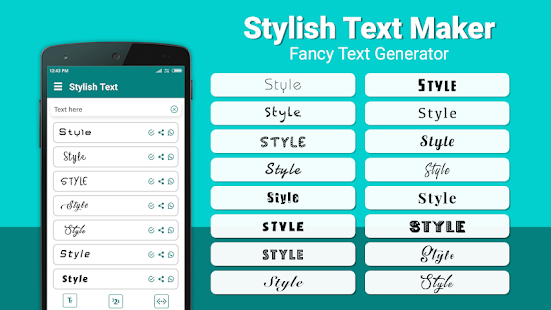 Stilvoller Text-Hersteller - fantastischer Text Screenshot