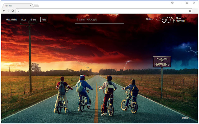 Stranger Things Hd Wallpaper New Tab Themes Free Addons