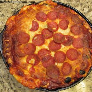 Cast Iron Deep Dish Pizza.