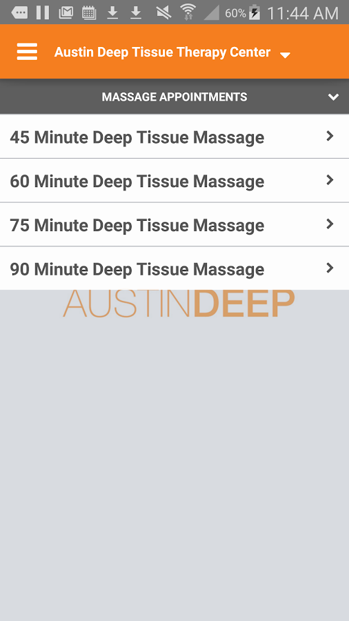 Austin Deep Tissue Therapy- screenshot