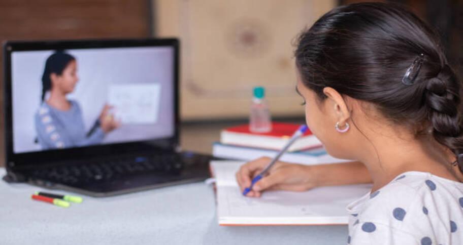 Simple presentation during online teaching