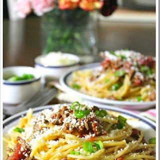 Barilla® Spaghetti with Chipotle Ground Beef and Cotija