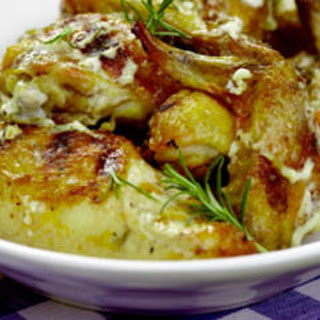 Grilled Chicken with Rosemary White Barbecue Sauce