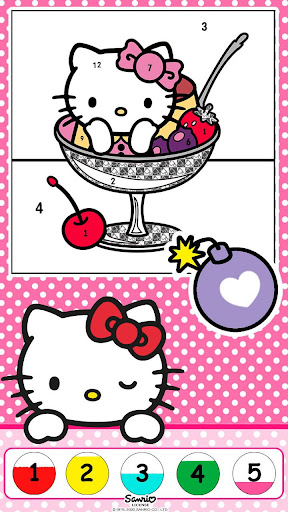 Color by Number with Hello Kitty apktram screenshots 9