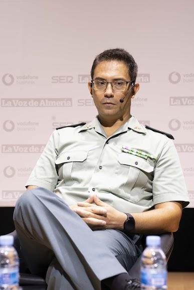 Alberto Redondo Sánchez, Comandante Jefe del Grupo de Delitos Tecnológicos de la Guardia Civil, durante su intervención.