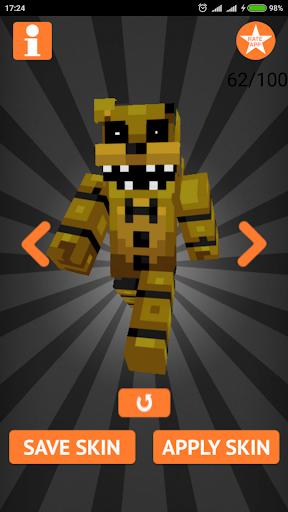 Skins FNAF for Minecraft PE 1.4 screenshots 15
