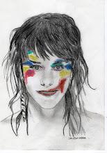 Photo: ZAZ (Crayon + pastel)