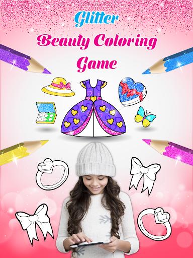 Glitter beauty coloring and drawing screenshot 9