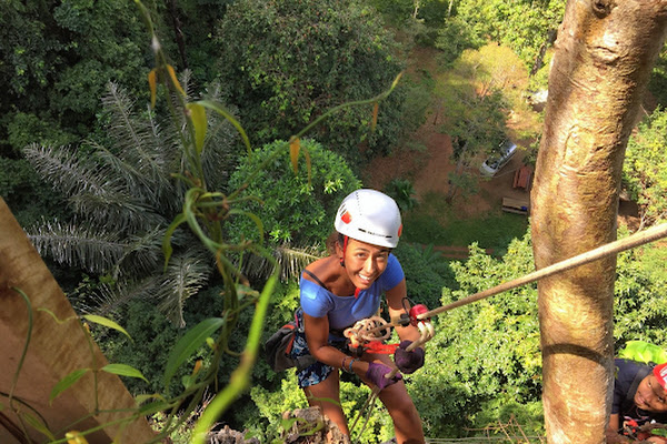 Abseiling in Thai'd Up Adventure Park