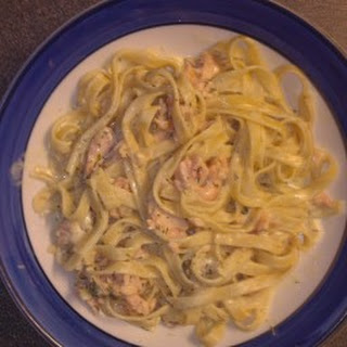 Fettuccine with Smoked Salmon, Vodka and Dill Recipe