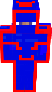 Blue and red man with striped line plz wear