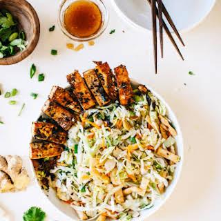 Asian Chopped Salad with Pan-Seared Sesame Tofu..