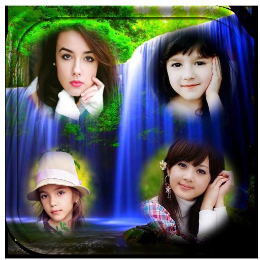 攝影App|Waterfall photo collage frames LOGO-3C達人阿輝的APP