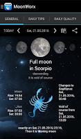 Screenshot of MoonWorx lunar calendar