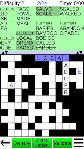 Word Fit Puzzle Screenshot
