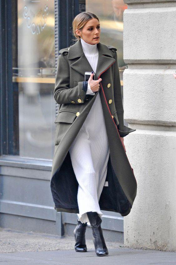 Olivia Palermo - in military style trench: