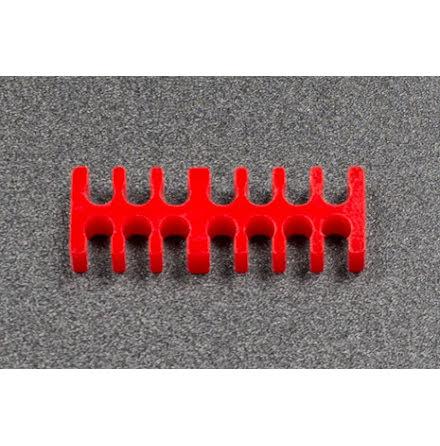 Kabelkam for 14 pins kabel, 2x7 Ø4mm spor, rød