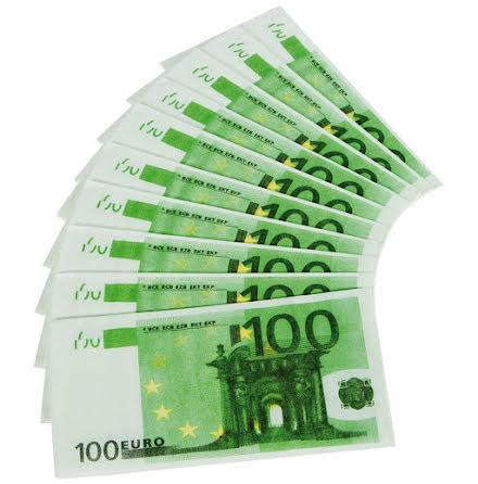 Näsduk, 100€ 10 st