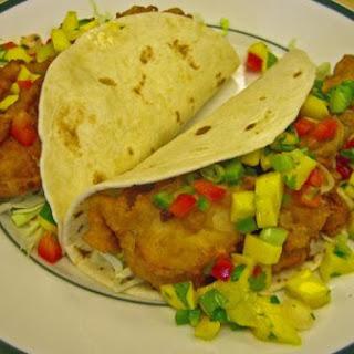 Beer Batter Fish Tacos With Mango Salsa