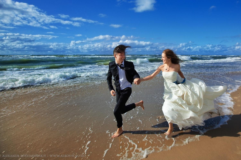 Свадебная фотосессия на море калининград