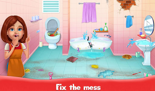 Big Home Cleanup and Wash : House Cleaning Game screenshots 2