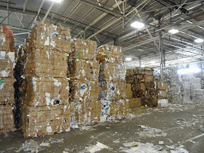 Photo: Paper to be recycled, Padnos works
