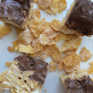 Chocolate Marshmallow Frosted Flakes Bars.