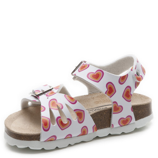Thumbnail images of Step2wo Love Heart White - Buckle Sandal