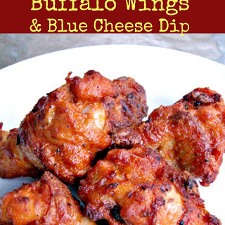 American Buffalo Wings and Blue Cheese Dip.