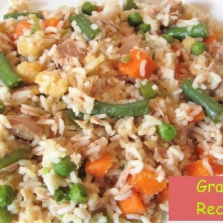Vegetables with Rice and Tuna Fish Chunks Recipe