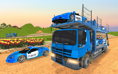 Download US Police Transporter Truck: Car Driving Games For PC Windows and Mac apk screenshot 12