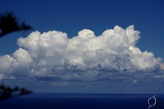 Photo: Cumulus developing over La Gomera (Canary Islands).
