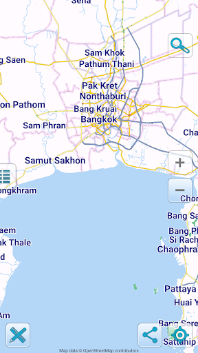 Map of Thailand offline