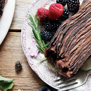 Chocolate Crêpe Cake.