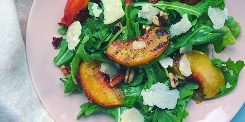 Grilled Peach & Arugula