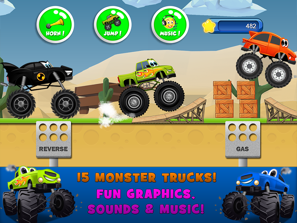 Monster Trucks Game For Kids Android Apps On Google Play