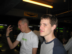 Photo: It was this big! Says Hammersley. Jon is unimpressed.