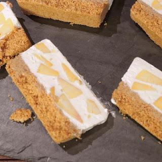 CLINTON KELLY Peaches and Cream No-Bake Cheesecake.