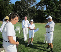 Photo: Nancy with final instructions