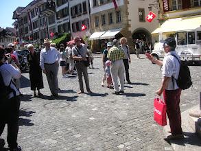 Photo: Verabschiedung der beiden Stadtführer und der Stadtführerin  durch Margrit Siegrist