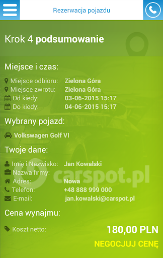 Wypou017cyczalnia samochodu00f3w  screenshots 5