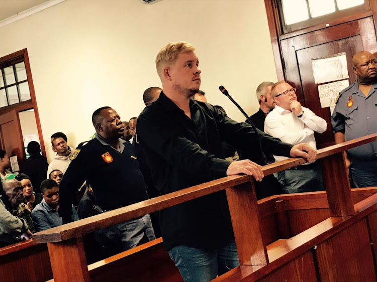 Matthew Benson appeared at the Brits Magistrate's Court on Friday for murder and attempted murder linked to the disappearance of Tebogo Ndlovu.