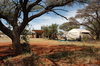 Photo: Camping at Motswedi Camp Site in the Mokala National Park.