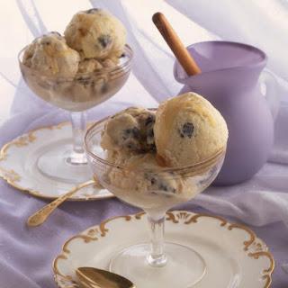 Honey and Blueberry Ice Cream